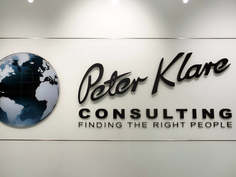 17_PETER-KLARE-SIGNAGE-with-cystal-glass-backing-acylic-letters-with-spray-paint-finish
