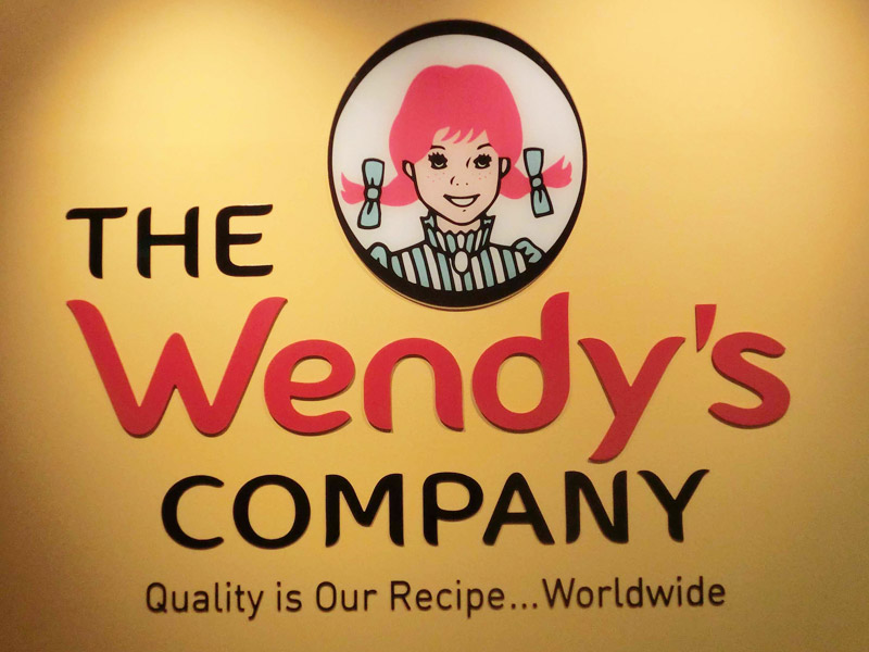 Wendy's-signage-acylic-cut-out-with-spray-paint-finish_Front-view